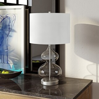 Katrin Glass Double Gourd Table Lamp in Clear Glass