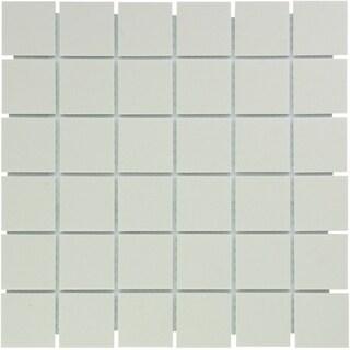 London Square Unglazed Porcelain Mosaic Tile Cream White (Case of 10 sheets / 10.3 sq. ft.)