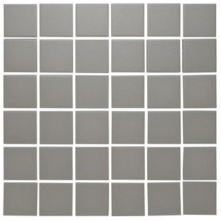 London Square Unglazed Porcelain Mosaic Tile Light Gray (Case of 10 sheets / 10.3 sq. ft.)