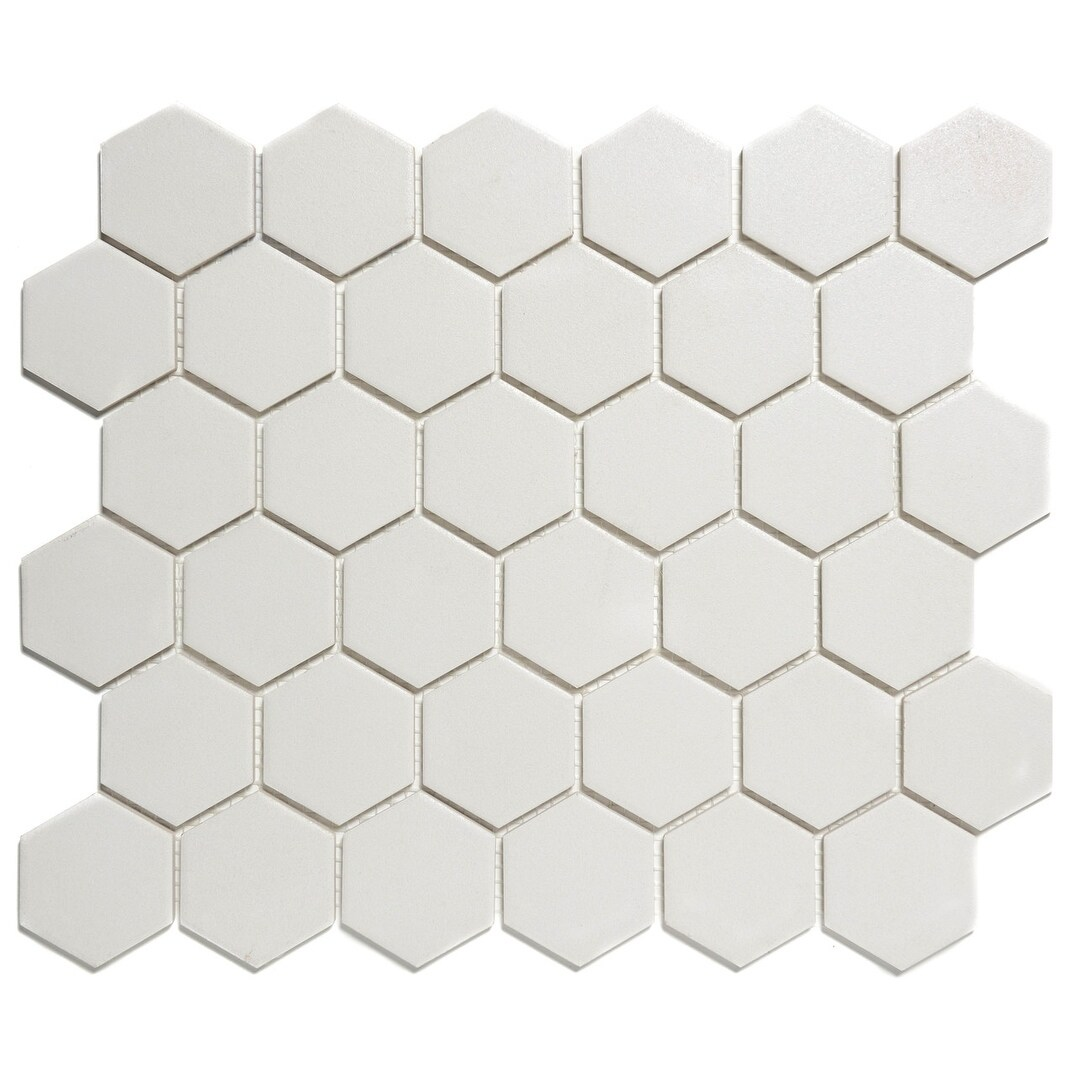 London Hexagon Unglazed Porcelain