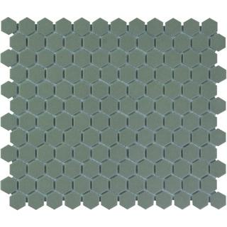 London Hexagon Unglazed Porcelain Mosaic Tile Light Gray