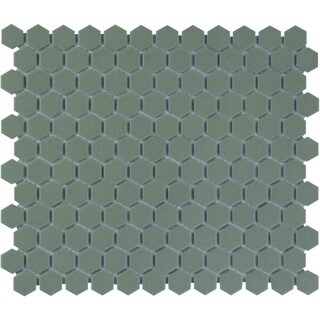 London Hexagon Unglazed Porcelain Mosaic Tile Light Gray (Case of 10 sheets / 8.5 sq. ft.)