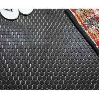London Hexagon Unglazed Porcelain Mosaic Tile Dark Gray (Case of 10 sheets / 8.5 sq. ft.)