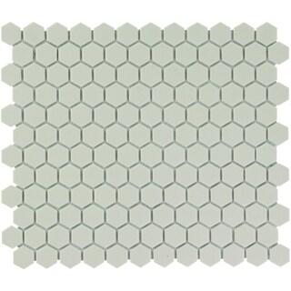 London Hexagon Unglazed Porcelain Mosaic Tile Cream White (Case of 10 sheets / 8.5 sq. ft.)