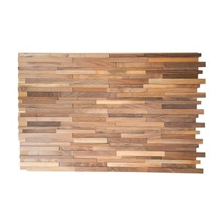 3D Walnut Wood 0.43 in. x 7.87 in. x 47.24 in. Wall Panel (8-Pack)