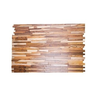 Luxor Ware 3D Acacia Wood 0.43 in. x 7.87 in. x 47.24 in. Wall Panel (8-Pack)