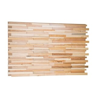 3D Maple Wood 0.43 in. x 7.87 in. x 47.24 in. Wall Panel (8-Pack)