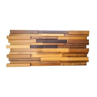 3D OWT Wood 0.43 in. x 7.87 in. x 47.24 in. Wall Panel (9-Pack) - 35.43