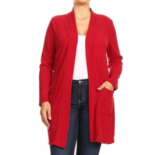 Link to Women's Casual Basic Solid Knit Plus Size Cardigan Sweater Similar Items in Women's Plus-Size Clothing