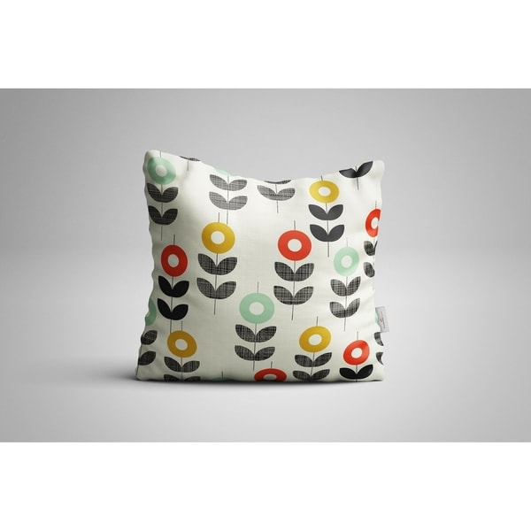 """Oyo Reversible Decorative Pillows - Cushion & Insert 17""""x17"""" Home Décor Throw Pillow For Bedding Porch Sofa Couch - Mid-Century"""