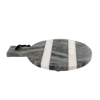 White and Grey Marble Stone Chopping Board.
