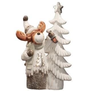 "24"" Lighted Holiday Moose"
