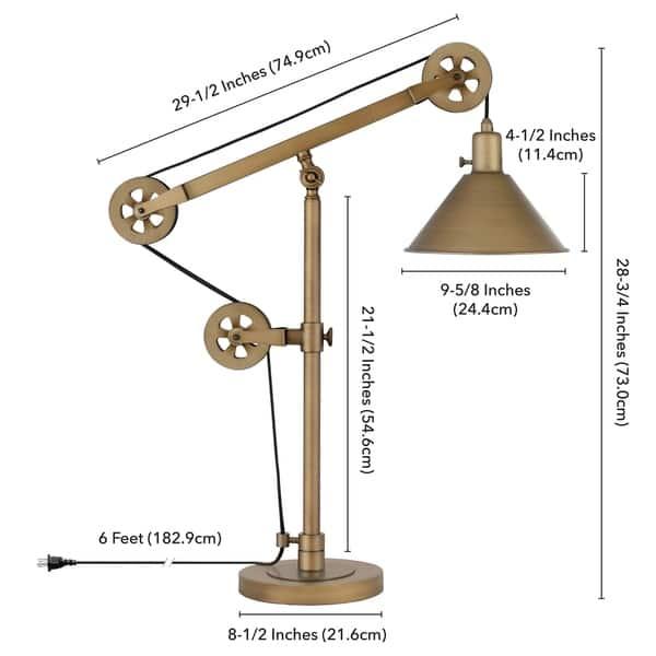 Shop Carbon Loft Tirith Industrial Farmhouse Table Lamp in