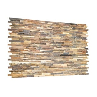 3D Mixted Wood 0.43 in. x 7.87 in. x 47.24 in. Wall Panel (16-Pack) - 31.49