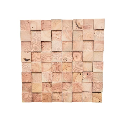3D Douglas Fir Wood .43 in. x 7.87 in. x 47.24 in. Wall Panel(12/Pack) - 31.48