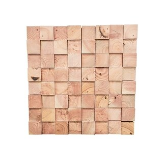3D Douglas Fir Wood .43 in. x 7.87 in. x 47.24 in. Wall Panel(12/Pack) - 31.48