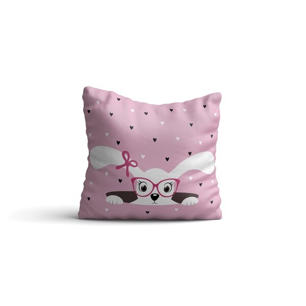 """Oyo Reversible Decorative Pillows - Cushion & Insert 17""""x17"""" Washable Home Décor Pink Throw Pillow For Bedding Porch Sofa Couch"""