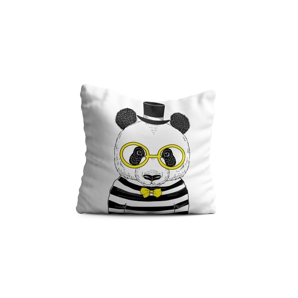 "Oyo Reversible Decorative Pillows - Cushion & Insert 17""x17"" Home Décor Throw Pillow For Bedding Porch Sofa Couch - Panda"