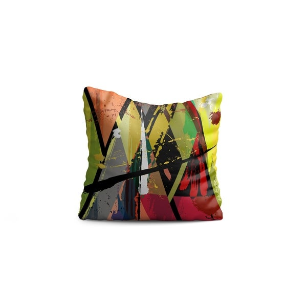 "Oyo Reversible Decorative Pillows - Cushion & Insert 17""x17"" Home Décor Throw Pillow For Bedding Porch Sofa Couch - Modern"