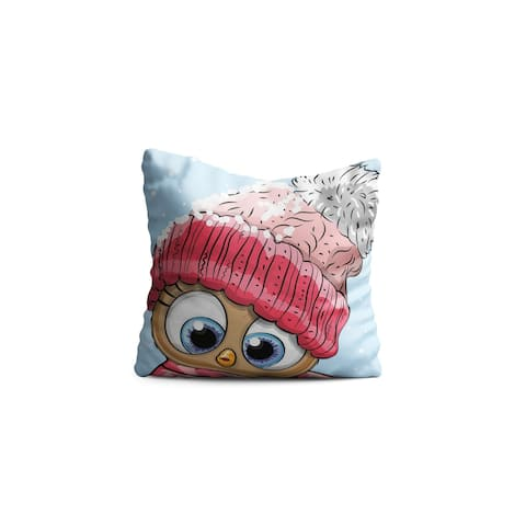 "Oyo Reversible Decorative Pillows - Cushion & Insert 17""x17"" Home Décor Throw Pillow For Bedding Porch Sofa Couch - Children"