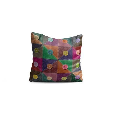 "Oyo Reversible Decorative Pillows - Cushion & Insert 17""x17"" Home Décor Throw Pillow For Bedding Porch Sofa Couch - Green"