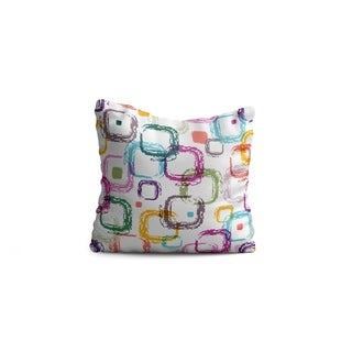 """Oyo Reversible Decorative Pillows - Cushion & Insert 17""""x17"""" Home Décor Throw Pillow For Bedding Porch Sofa Couch - Squares"""