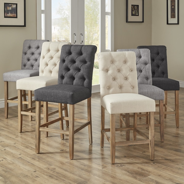 Benchwright Premium Tufted Rolled Back Counter/ Bar Height Stools (Set of 2) by iNSPIRE Q Artisan. Opens flyout.
