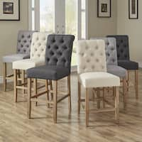Benchwright Premium Tufted Rolled Back Counter/ Bar Height Stools (Set of 2) by iNSPIRE Q Artisan