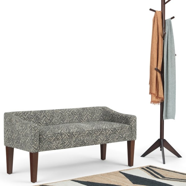"""WYNDENHALL Layla 50 inch Wide Contemporary Upholstered Bench - 50""""x 22""""x 23.8"""""""