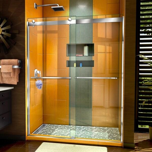 Shop Dreamline Sapphire Semi Frameless Bypass Shower Door Free