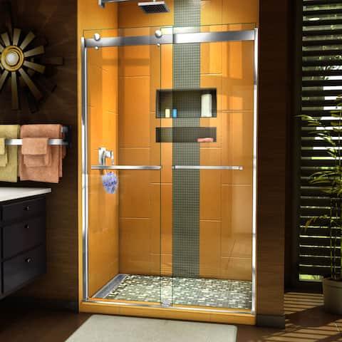 """DreamLine Sapphire 44-48 in. W x 76 in. H Semi-Frameless Bypass Shower Door - 44"""" - 48"""" W"""