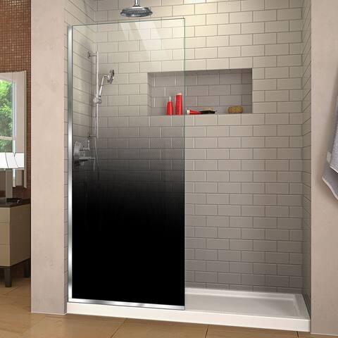 """DreamLine Linea Ombre 34 in. W x 72 in. H Single Panel Frameless Shower Door - 34"""" W"""
