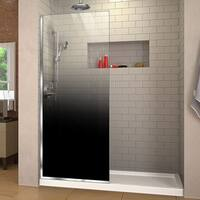 DreamLine Linea Ombre 34 in. W x 72 in. H Single Panel Frameless Shower Door, Open Entry Design