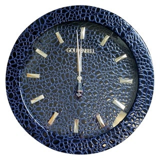 Goldenbell All Faux Leather Large Wall Clock
