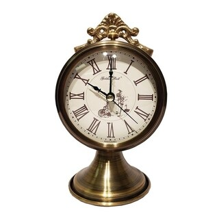 Goldenbell Metal Antique Desk Clock