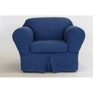 Classic Slipcovers Washed Denim 2 Piece Chair Slipcover