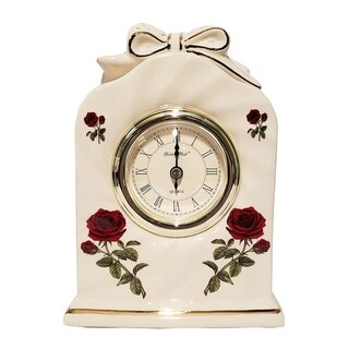GB Ceramic Floral Desk Clock