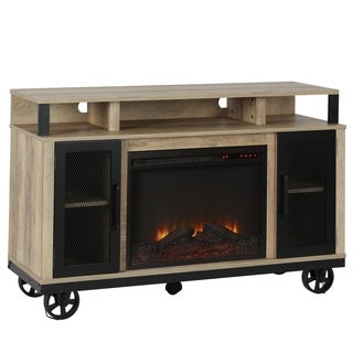 Ameriwood Home Maddox TV Stand with Fireplace for TVs up to 55 inches