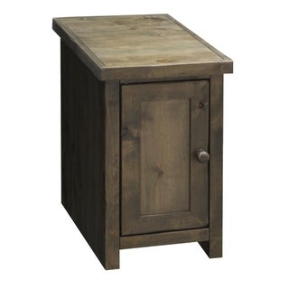 Carbon Loft Pendragon Barnwood Chair Table with Door
