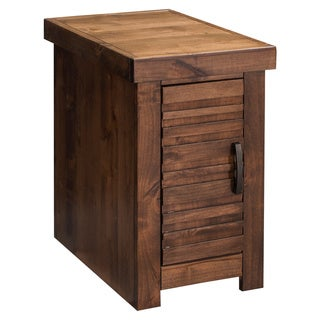 Carbon Loft Grimm Whiskey Finish Wood Chair Table with Door
