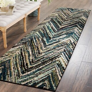 "Superior Designer Avril Multicolor Runner Rug - 2'7"" x 8'"