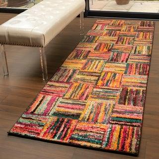 "Miranda Haus Designer Twila Multi-Color Runner Rug - 2'6"" x 8'"