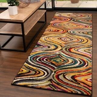 "Miranda Haus Designer Jubilee Multi-Color Runner Rug - 2'6"" x 8'"