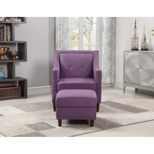Excellent Shop Accent Chair With Storage Ottoman Purple Free Uwap Interior Chair Design Uwaporg