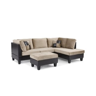Bonded Leather and Champion Sectional Set, Brown