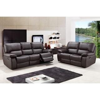 GU Industries Tucker Leather Air Upholstered 2 Piece Living Room Sofa Set
