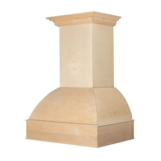 48 in. 1200 CFM Unfinished Wooden Wall Range Hood
