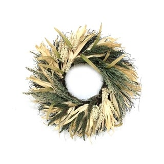 22''D Harvest Heather Wreath, Essential