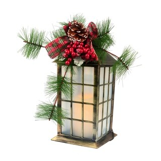 Red Bow And Grass Lantern