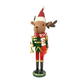 "15"" Christmas Animal Nutcracker-Reindeer"
